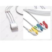 Unimed 3-lead ECG Lead Wire, GRABBER, GE Marquette