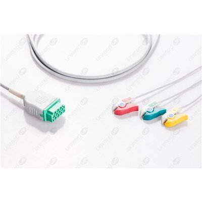 Unimed 3-lead One Piece Cable, GRABBER, GE Marquette