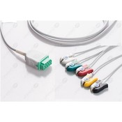 Unimed 5-lead One Piece Cable, GRABBER, GE Marquette
