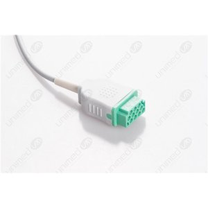 Unimed 12-lead One Piece Cable, SNAP, GE Marquette