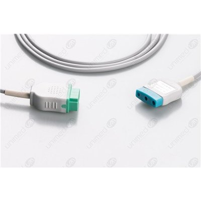 Unimed 3-lead Din Trunk Cable, GE Marquette