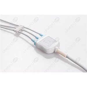 Unimed 3-lead One Piece Cable, SNAP, GE Marquette