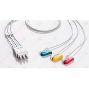 Unimed 3-lead ECG Leadwires, GRABBER, Philips/HP, Welch Allyn