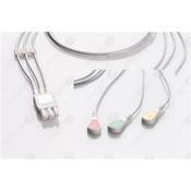 Unimed 3-lead ECG Leadwires, SNAP, Philips/HP