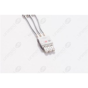 Unimed 3-lead ECG Leadwires, GRABBER, Philips/HP