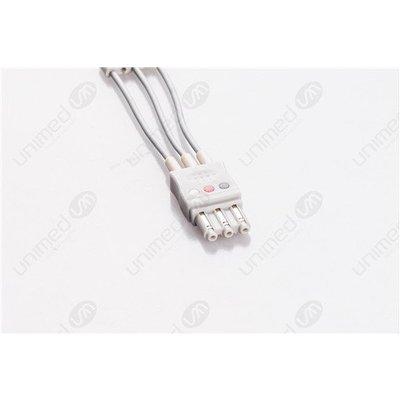 Unimed 3-lead ECG Leadwires, GRABBER, Philips/HP