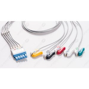 Unimed 5-lead ECG Leadwires, GRABBER, Philips/HP