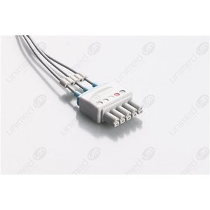 Unimed 3-lead ECG Leadwires, SNAP, Siemens