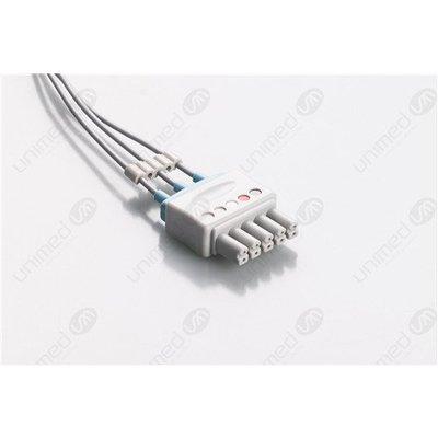 Unimed 3-lead ECG Leadwires, SNAP, Siemens