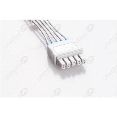 Unimed 5-lead ECG Leadwires, GRABBER, Siemens