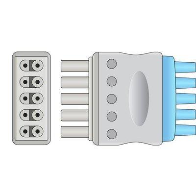 Unimed 6-lead ECG Leadwires, Integrated, SNAP, Dräger
