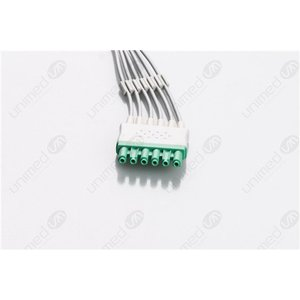 Unimed 6-lead ECG Leadwires, Integrated, SNAP, Dräger