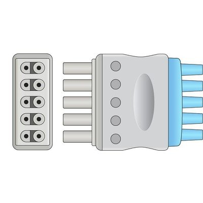 Unimed 5-lead ECG Leadwires, Integrated, GRABBER, Dräger