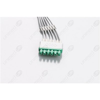 Unimed 6-lead ECG Leadwires, Integrated, GRABBER, Dräger