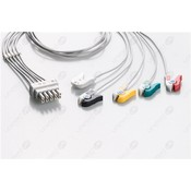 Unimed 5-lead ECG Leadwires, Individual, GRABBER, GE Datex