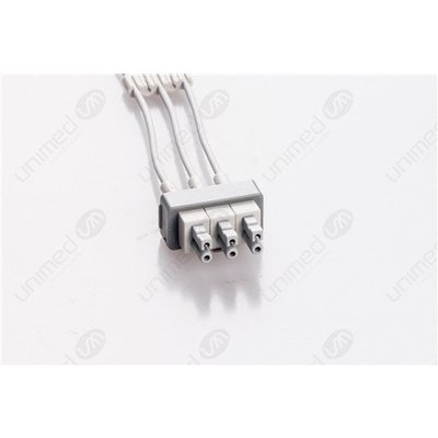 Unimed 3-lead ECG Leadwires, Individual, SNAP, Philips / HP