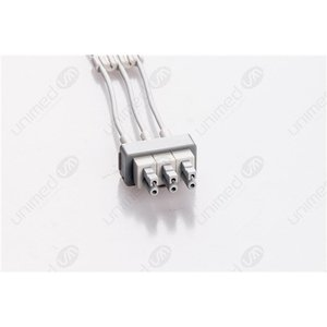 Unimed 3-lead ECG Leadwires, Individual, GRABBER, Philips / HP