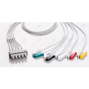 Unimed 5-lead ECG Leadwires, Individual, GRABBER, Philips / HP