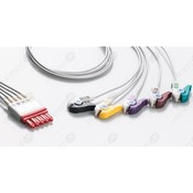 Unimed 5-lead ECG Leadwires, GRABBER, Philips/HP  -RED
