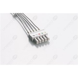 Unimed 5-lead ECG Leadwires, SNAP, Siemens