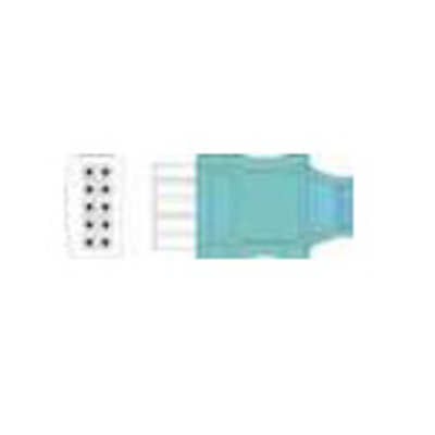 Unimed Datascope, Disposable 3-lead SNAP,shielded ribbon cable, 90cm, 10pc/pck