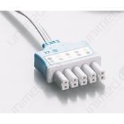 Unimed Dräger/Siemens, Disposable 3-lead SNAP,shielded ribbon cable, 90cm, 10pc/pck