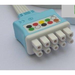 Unimed GE Multi-Link, Disposable 5-lead GRABBER,shielded ribbon cable, 90cm, 10pc/pck