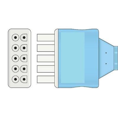Unimed GE Multi-Link, Disposable 6-lead GRABBER,shielded ribbon cable, 90cm, 10pc/pck