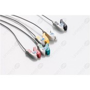 Unimed 5-lead ECG One Piece Cable, GRABBER, Datascope/ Mindray