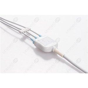Unimed 3-lead One Piece Cable, GRABBER, Siemens - Schiller