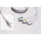 Unimed Philips, 3-lead,Disposable, One piece ECG lead wires, GRABBER, 8pc/pck