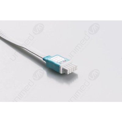 Unimed Datascope, Disposable 5-lead GRABBER,shielded ribbon cable, 90cm, 10pc/pck