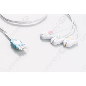 Unimed Philips IntelliVue, Disposable 3-lead GRABBER,shielded ribbon cable, 90cm, 10pc/pck