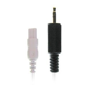 Braebon Dual 1mm (keyhole) connector to 2.5mm male phone connector, 45cm cable