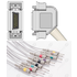 Unimed 10-lead One Piece EKG Fixed Cable + Resister, Needle, Hellige/Siemens Hormann/Bosch