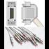 Unimed 10-lead One Piece EKG Fixed Cable + Resister, Banana, Hellige/Siemens Hormann/Bosch