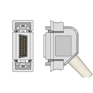 Unimed 10-lead EKG Trunk Cable + Resister, Hellige/ Siemens Hormann/ Bosch