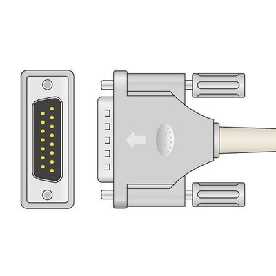 Unimed 10-lead EKG Trunk Cable, Philips/HP