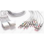 Unimed 10-lead EKG integrated Leadwires, 4mm banana, GE Multi-Link