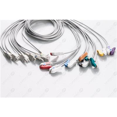Unimed 10-lead EKG patient Leadwires, Grabber, GE CAM14