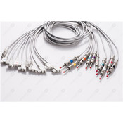 Unimed 10-lead EKG patient  Leadwires, 4mm banana, GE AM4/AM5