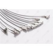 Unimed 10-lead EKG patient  Leadwires, Snap, GE AM4/AM5