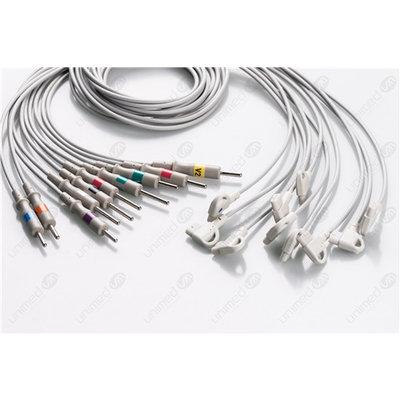 Unimed 10-lead EKG  Leadwires, 3mm Needle, Philips