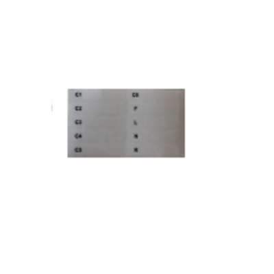 Strässle Code Plate Set: 10 code plates for suction lines with identifier
