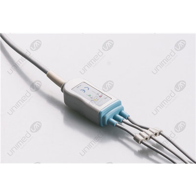 Unimed 3-lead One Piece Cable, SNAP, Welch Allyn