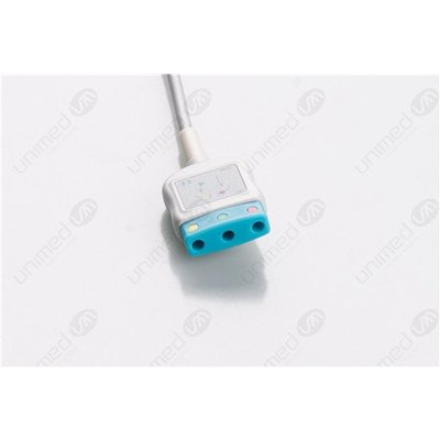 Unimed 3-lead Din Trunk Cable,  Welch Allyn