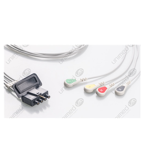 Unimed 4-lead ECG Leadwires, SNAP, Medtronic-Physiocontrol