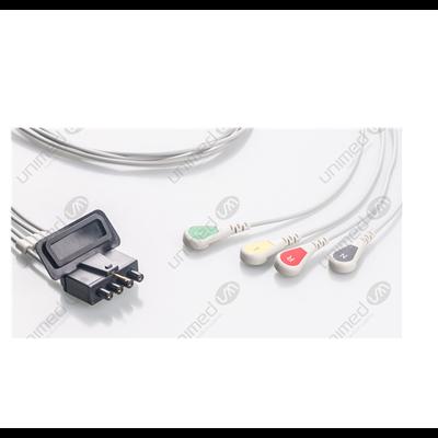Unimed 4-lead ECG Leadwires, SNAP, Medtronic-Physiocontrol