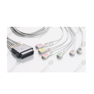 Unimed 6-lead ECG Leadwires, SNAP, Medtronic-Physiocontrol