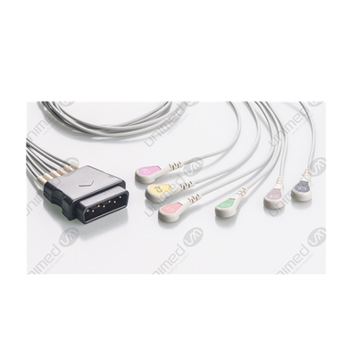 Unimed 6-lead ECG Leadwires, SNAP, Medtronic-Physiocontrol